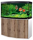 Aquariumkombination FLUVAL Vicenza 180 mit LED-Beleuchtung, Heizer, Filter und Unterschrank weiß-Eiche