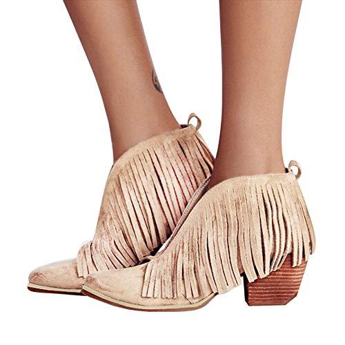 Stiefel Damen Boots Wildleder Stiefeletten Frauen Mode Ankle Schuhe Fringe Quaste Martin Bootie Kurze Stiefel ABsoar