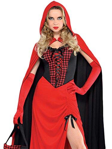 Karnevals Komplett Kostüm Rotkäppchen , Rot, Größe XL (Tiana Kostüm Erwachsene)