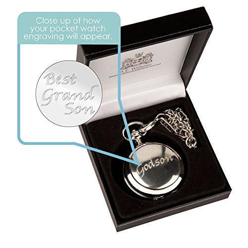 Engraved Pocket Watch: Grandson Gift, Personalised