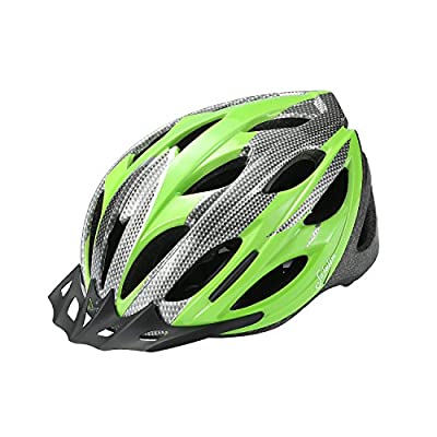 Sefulim Specialized Cycle Helmet Adult Racing Bike Cycling Helmets by Adjustable Size for Girls Boys Spectacle-wearers Green from Sefulim