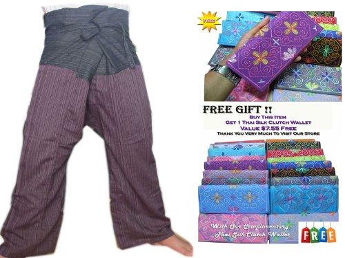 Zenza Fashion 2Ton Thai Fisherman Hose Yoga Hosen gratis Größe Plus Größe Baumwolle Streifen