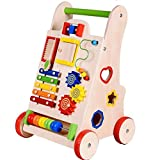 #5: Push Along Wooden Baby Walker With Multiple Activity for little one to take their First Step