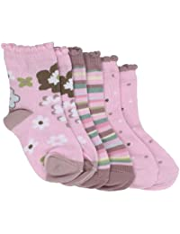Country Kids Baby Girls' Candy Flower 3 Pair Socks