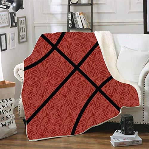 Fgvbwe4r 3d ball sports sherpa coperta velluto peluche coperta in pile copriletto divano divano copripiumino coperta da viaggio, 7.150 * 130