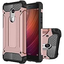 Hongmi Note4 Funda, HICASER Híbrida Case [Heavy Duty] Rugged Armor Cover, Dual Layer Shock Resistant Carcasa para Xiaomi Redmi Note 4 Rose Dorado