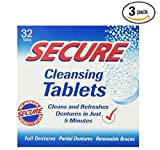 Secure Cleansing Tablets 32 tabs (3 boxe...