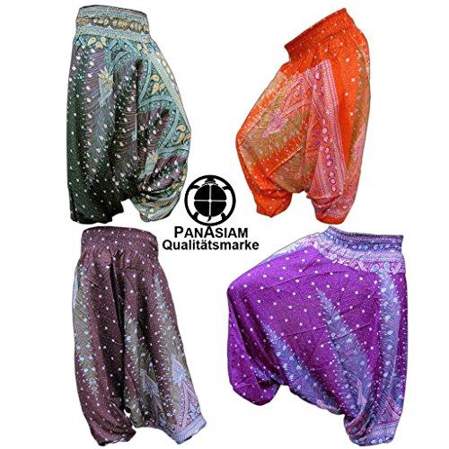 Panasiam Aladin Pants, Print-Design-style: 'V' Peacock (limitierte Auflagen) Naturstoff!! Das Original, Qualitätshose, hier zum Aktionspreis.. Blue