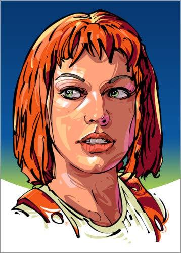 Posterlounge Leinwandbild 30 x 40 cm: Leeloo von Nikita Abakumov - fertiges Wandbild, Bild auf Keilrahmen, Fertigbild auf echter Leinwand, Leinwanddruck (Fünfte Leeloo Element)