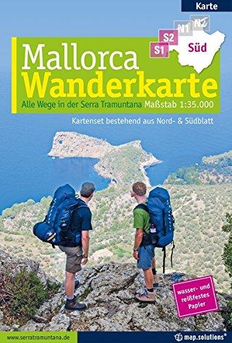 Preisvergleich Produktbild Mallorca - Wanderkarte 1:35.000 (Kartenset mit Nord + Süd-Blatt): Alle Wege in der Serra Tramuntana