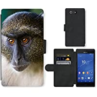 Super Galaxy Cell Phone Card Slot PU Leather Wallet Case // V00003899 sykes monkey mount kenya // Sony Xperia Z4 E6553