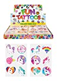 24 x Girls Unicorn Temporary Tattoos Children's Birthday Party Bag Filler