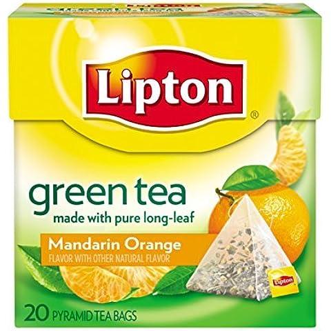 Lipton Tè Verde, Mandarino Arancione, Premium Piramide Bustina di tè Confezione da 20 Contare PackageQuantity: 1 - Lipton Bustine Di Tè