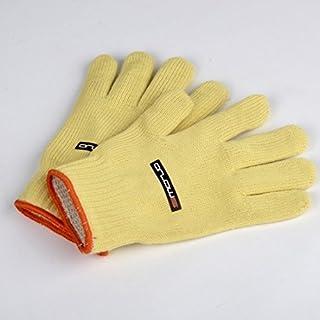 1Pair Arlows Welding Gloves, Yellow/Orange