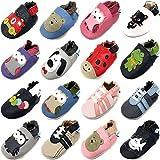 MiniFeet Prime Chaussures Bébé en Cuir Souple, Oliver la Hibou Gris 3-4 Ans...
