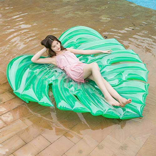 Aufblasbare Pool Float Floß, Blätter Geformte Schwimmende Reihe Für Sommer Party Schwimmen Strandurlaub Erwachsene Kinder Wasser Spielzeug, 180X160 cm ()