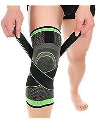 MIMINUO Supporto per ginocchio, tutore per ginocchio, ginocchio gambaletti di compressione - aiuto per la rottura del menisco, l'artrite, tendinite per le donne uomini calcio, basket,adatto per Pallavolo, Calcio, Basket, Correre (Single)