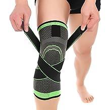 Rodilla Apoyo sleeves - Rodillera de compresión de MIMINUO para Levantar pesas, Correr, Sentadillas profundas, Deportes, prevención de lesiones de rodilla, alivio del dolor común, la artritis y la recuperación de lesions (Single)