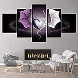 BOYH 5 Piezas Impresiones en Lienzo Cartel del Amor del dragón Yin Yang HD Moderno Pared el Arte Impresión Decoración hogareña,B,30×50×2+30×70×2+30×80×1