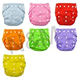 #9: N&M New Adjustable Reusable Lot Baby Washable Cloth Diaper Nappies Pack Of 7 - Color May Very