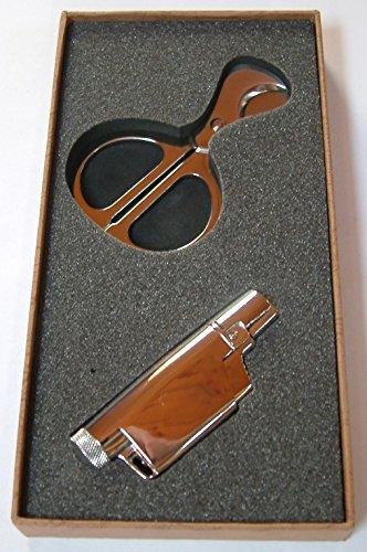 Zigarren Schneider Cutter Feuerzeug Jet Flamme Zigarrenschneider Chrom - Und Feuerzeug Zigarren-cutter