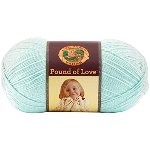 Lion Marke Garn 550–099B Pfund der Liebe Garn, antik weiß Pastellgrün (Pfund Baby-garn)
