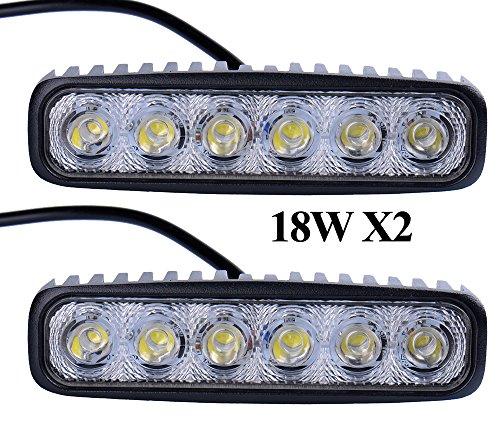Preisvergleich Produktbild Himanjie® 2 Stück 18W LED Lampe Scheinwerfer kaltweiß Rücklicht für KFZ Arbeitsscheinwerfer wasserfest IP67