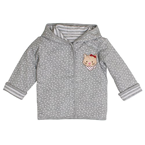 SALT AND PEPPER Baby-Mädchen Jacke BG Jacket Allover reves, Grau (Grey Melange 212), 74