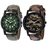 Stylox Set Of 2 Casual Watch For Men
