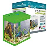 All Pond Solutions Nano Fisch Tank Aquarium/LED-Lichtern, klein, 7 Liter, grün