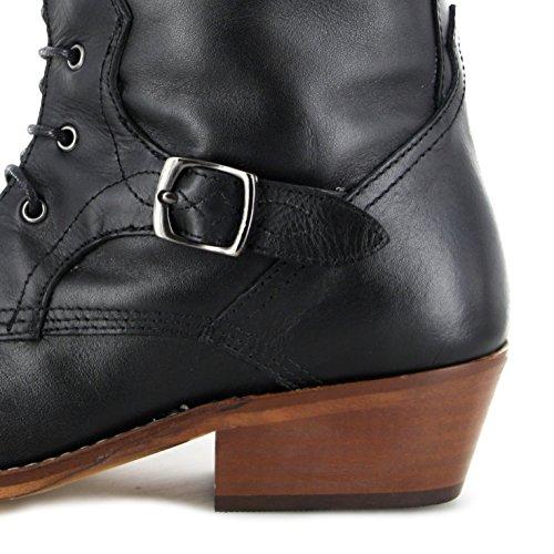 Fashion Boots Stiefel FW1005 Schwarz Damen Fashion Stiefel Black