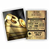 Einladung BLOCKBUSTER I KINO FILM THEATER zum 30. Geburtstag (50 Stück)