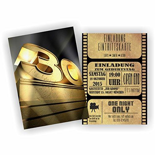 (Einladung BLOCKBUSTER I KINO FILM THEATER zum 30. Geburtstag (30 Stück))
