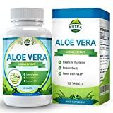 Aloe Vera, Maximum Strength Supplement for Weight Loss, Gently Cleanses and Detoxifies Your Digestive Tract, Heals and Moisturizes Your Skin, 6000mg, 120 Tablets by Nutra Rise