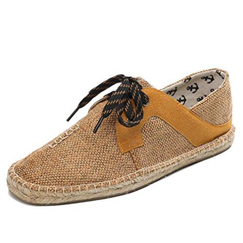Strohschuhe faule Fischerschuhe Sommerm盲nner flache Yellow Segeltuchschuhe Schuhe Schuhe der M盲nner Schuhe der H6wpxq0F
