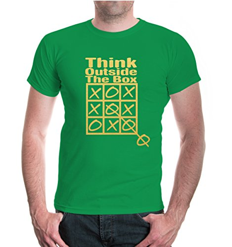 buXsbaum® T-Shirt Think Outside The Box Kellygreen-Gold