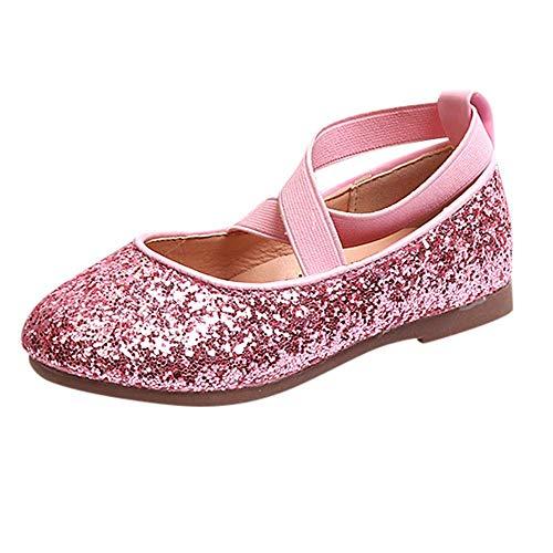 CixNy Tanzschuhe Kleinkind Schuhe Kinderschuhe Mädchen Kristall einzelne Schuhe Ballerinas T-Strap Schuhe Lederschuhe Lauflernschuhe Mädchen Prinzessin Schuhe Shoes Gold Schwarz Pink Gr.26-35 - Kleid Gold Gestickten Schwarzen