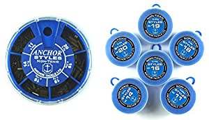 Anchor Tackle Bote distributrice 6 cases de plombs Styl Bleu Modle plomb large