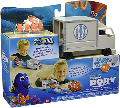 Looking for Dory - Playset with action: Hank's Truck, White Color (Bandai 36455)