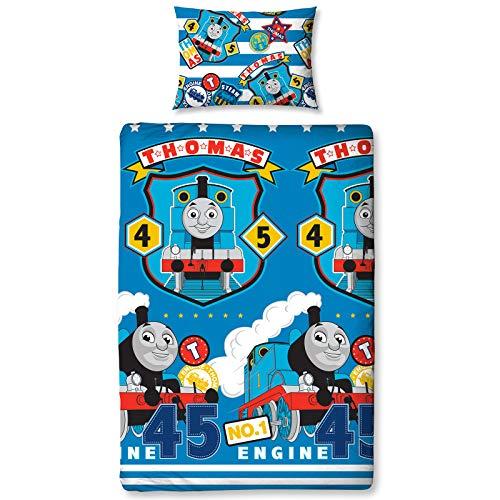 Thomas & Friends Repeat Print Design Patch Bettwäsche-Set, Mehrfarbig, Single (Thomas-zug-bettwäsche-set)