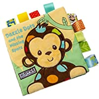 Baby Toy, LILICAT 0-2 Years Old Kids Educational Toys Animal Cute Sheep Bird Monkey Dog Puzzle Cloth Book Baby Toy Cloth Development Books Safe Colorful Books Birthday Gifts (B, 16*16cm)