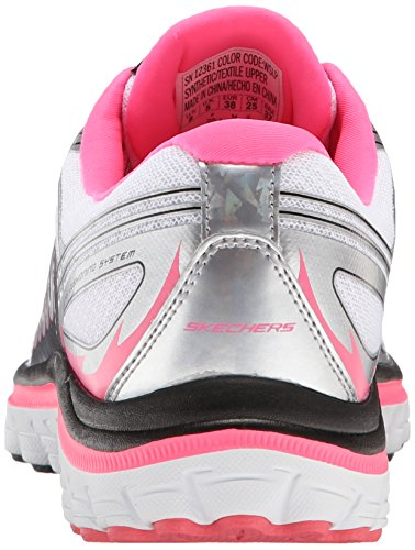 Skechers Sport Ascent Fashion Sneaker White/Silver/Pink