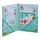 'Woodland' Tiere Briefpapier Set für Mädchen (Schreibpapier, Briefumschläge, Postkarten, Sticker) - Lucy Locket