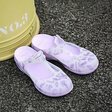 CH&TOU Damen-Sandalen-Lässig-PULoch Schuhe-Blau Grün Rosa Lila Purple