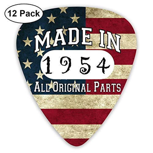 65th Birthday Gifts Made in 1954 All Original Parts Sampler Guitar Picks - 12 Pack Complete Gift Set for Guitarist Best Gift for Guitarist
