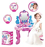 #6: Babytintin™ Little Kids Girls Princess Battery Operated Glamour Beauty Makeup Pretend Role Play Set Toy Mirror Durable Dressing Vanity Table Up With Music Sound And Light Toys for kids