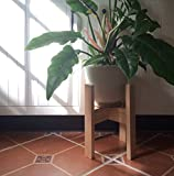 #4: planet strong wooden Plant Stand,, Mid Century Indoor (pine wood) planter