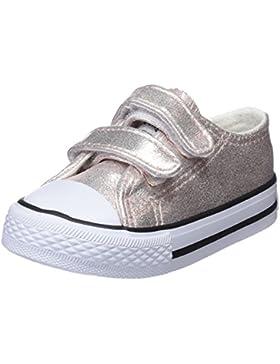 Conguitos Sneaker Metalizado Velcro, Zapatillas sin Cordones para Niñas