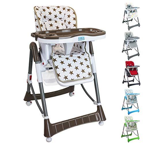 Monsieur Bébé  Chaise haute enfant pliable,...