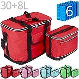 Kühltaschen-Set IBIZA 30+8 Liter mit 6 Kühlakkus für Picknick